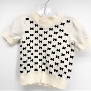 Hanna Andersson Sweater Black Bows X's Size 4